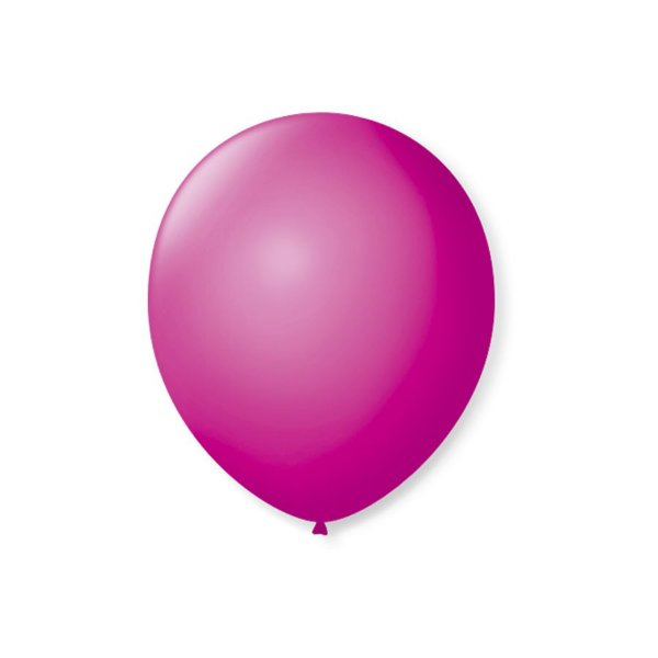 Balão de Festa Latex 7'' 18cm - Vermelho Rubi - 50 unidades - São Roque - Rizzo Festas