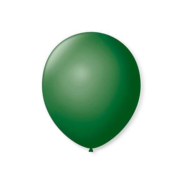 Balão de Festa Latex 7'' 18cm - Verde Folha - 50 unidades - São Roque - Rizzo Festas