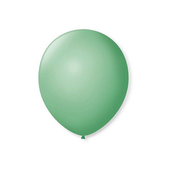 Balão de Festa Latex 7'' 18cm - Verde Lima - 50 unidades - São Roque - Rizzo Festas