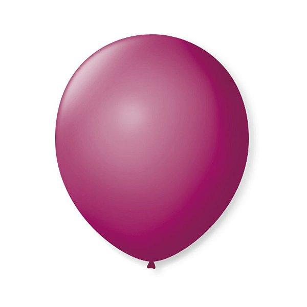 Balão de Festa Latex 9'' 23cm - Ameixa - 50 unidades - São Roque - Rizzo Festas