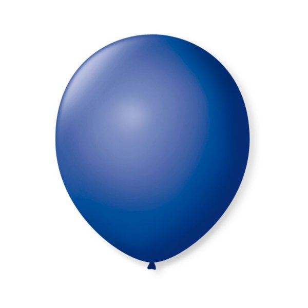 Balão de Festa Latex 9'' 23cm - Azul Cobalto - 50 unidades - São Roque - Rizzo Festas