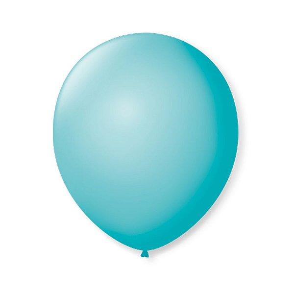 Balão de Festa Latex 9'' 23cm - Azul Oceano - 50 unidades - São Roque - Rizzo Festas