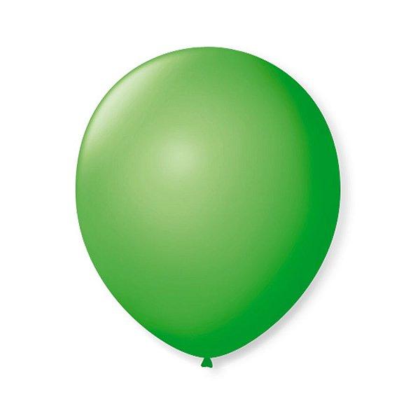 Balão de Festa Latex 9'' 23cm - Verde Maça - 50 unidades - São Roque - Rizzo Festas