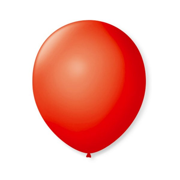 Balão de Festa Latex 9'' 23cm - Vermelho Quente - 50 unidades - São Roque - Rizzo Festas