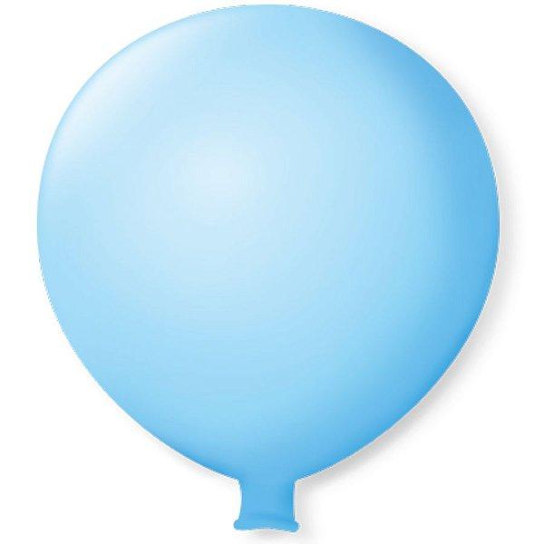 Balão Gigante em Latex 25'' 64cm - Azul Baby - São Roque - Rizzo Festas