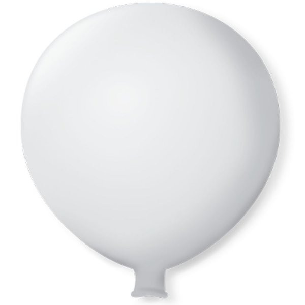 Balão Gigante em Latex 25'' 64cm - Branco Polar - São Roque - Rizzo Festas