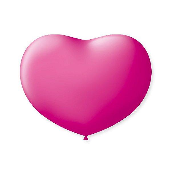 Balão de Coração em Latex 6'' 15cm - Rosa Tutti Frutti - 50 unidades - São Roque - Rizzo Festas