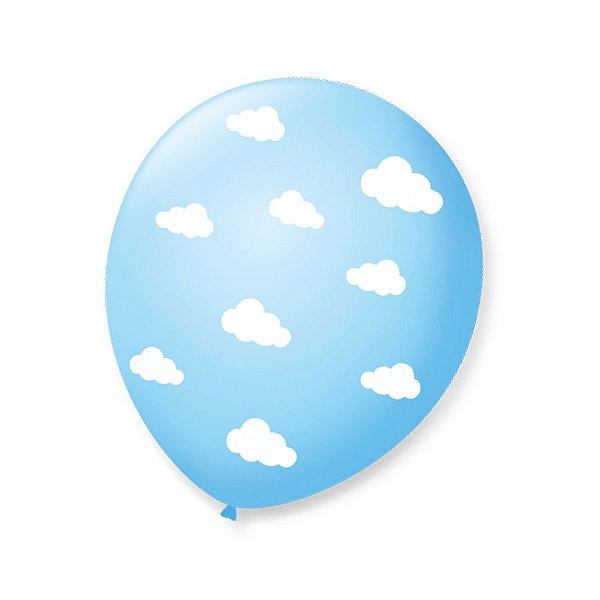 Balão de Festa Pedacinho do Céu Nuvem 9'' 23cm - 25 unidades - São Roque - Rizzo Festas