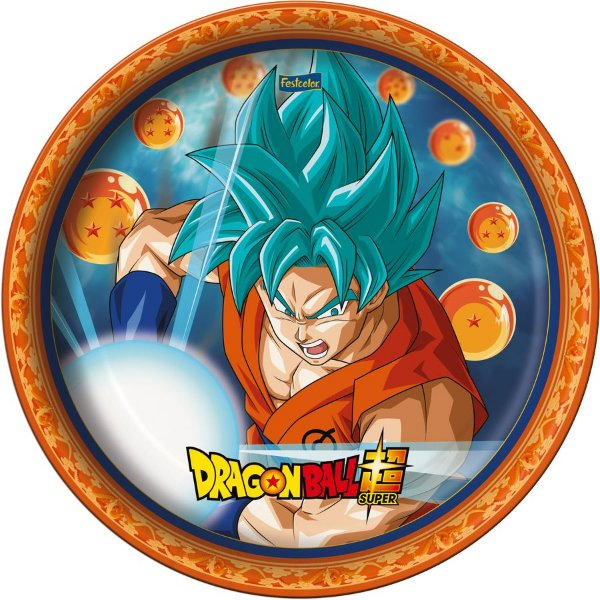 Prato Festa Dragon Ball 18Cm - 8 unidades - Festcolor - Rizzo Festas