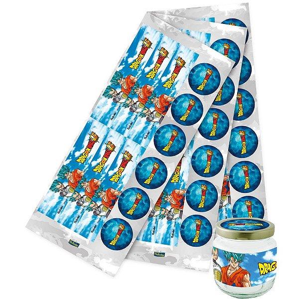 Adesivo para Lembrancinha Festa Dragon Ball - 36 unidades - Festcolor - Rizzo Festas