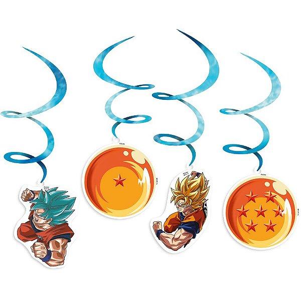 Móbile Decorativo Festa Dragon Ball - 4 unidades - Festcolor - Rizzo Festas