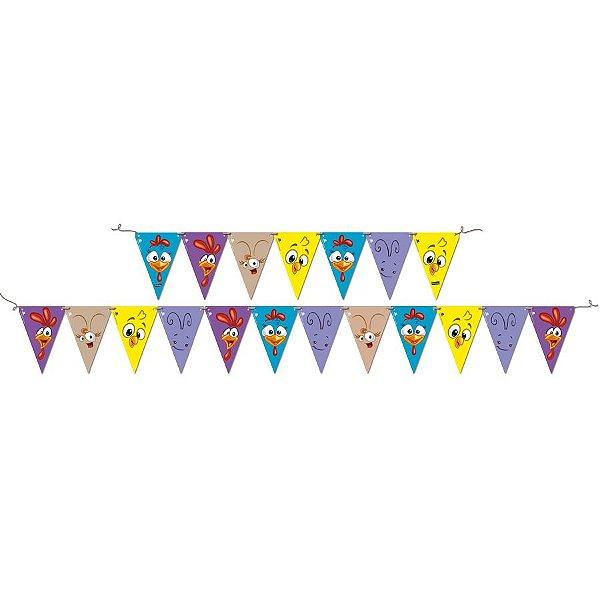 Faixa Decorativa Festa Galinha Pintadinha - Festcolor - Rizzo Festas