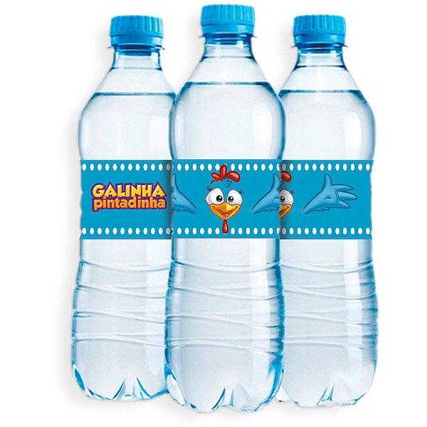 Adesivo Rótulo de Água Festa Galinha Pintadinha - 6 unidades - Festcolor - Rizzo Festas