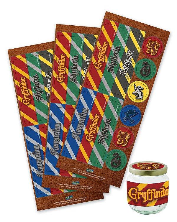Adesivo para Lembrancinha Festa Harry Potter - 36 unidades - Festcolor - Rizzo Festas