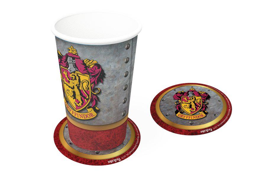 Bolacha Porta Copo Festa Harry Potter - 8 unidades - Festcolor - Rizzo Festas