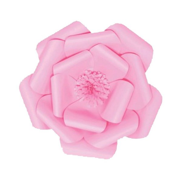 Flor de Papel Decoração Festa - Camélia 32cm P Rosa Claro - Decora Doces - Rizzo Festas