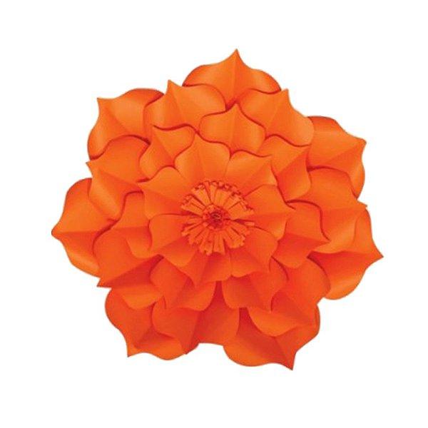 Flor de Papel Decoração Festa - Flor do Campo 27cm PP Laranja - Decora Doces - Rizzo Festas