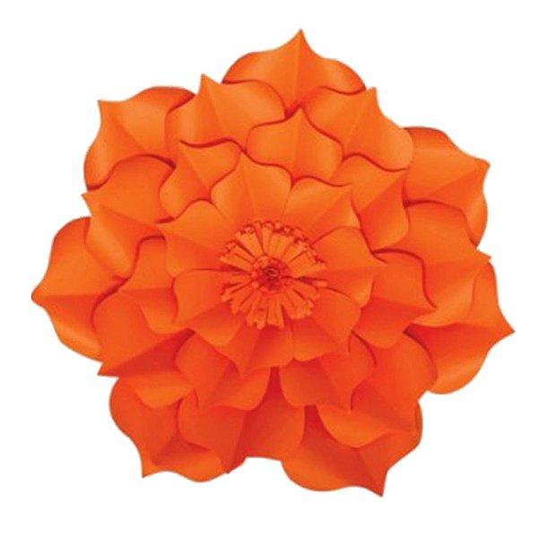 Flor de Papel Decoração Festa - Flor do Campo 32cm P Laranja - Decora Doces - Rizzo Festas