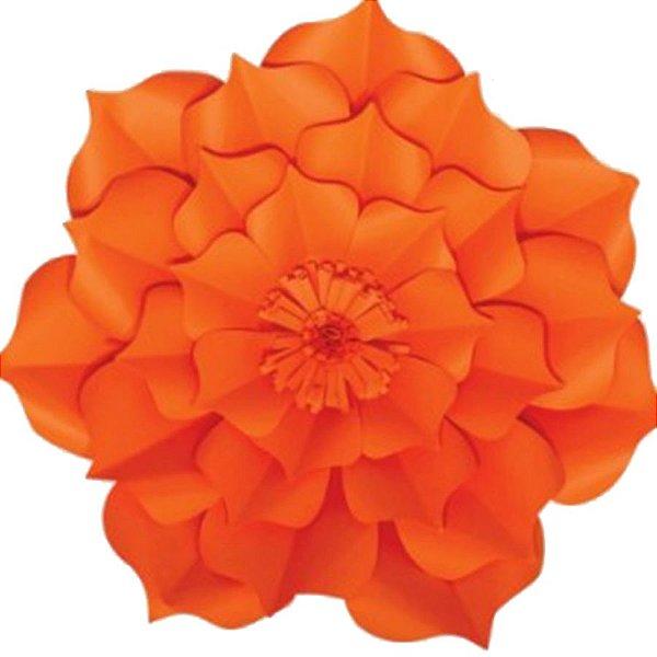 Flor de Papel Decoração Festa - Flor do Campo 39cm M Laranja - Decora Doces - Rizzo Festas