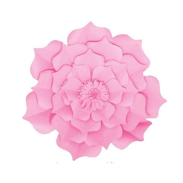 Flor de Papel Decoração Festa - Flor do Campo 27cm PP Rosa Claro - Decora Doces - Rizzo Festas