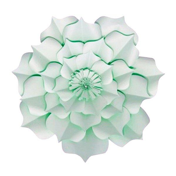 Flor de Papel Decoração Festa - Flor do Campo 32cm P Verde Água - Decora Doces - Rizzo Festas