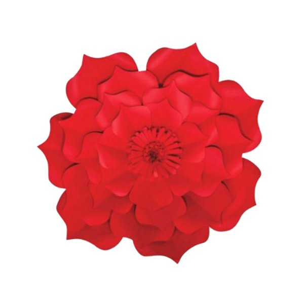 Flor de Papel Decoração Festa - Flor do Campo 27cm PP Vermelha - Decora Doces - Rizzo Festas