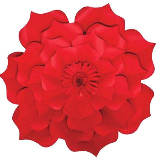 Flor de Papel Decoração Festa - Flor do Campo 39cm M Vermelha - Decora Doces - Rizzo Festas
