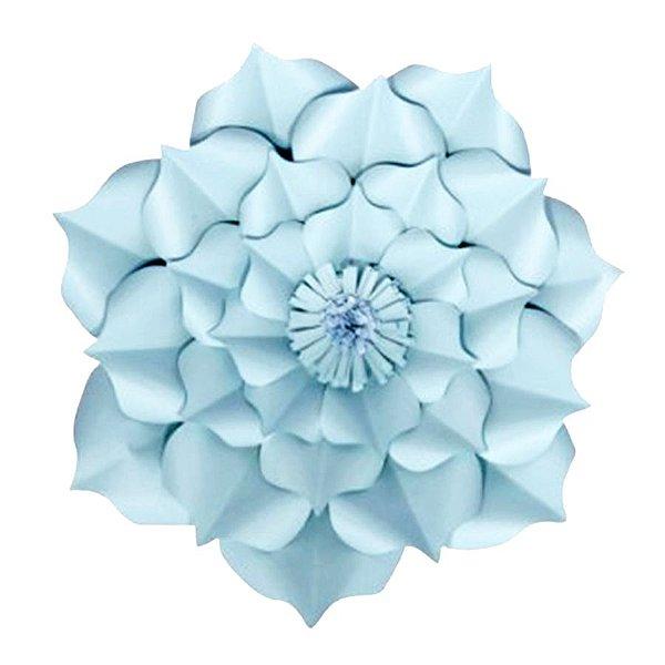 Flor de Papel Decoração Festa - Flor do Campo 32cm P Azul Claro - Decora Doces - Rizzo Festas