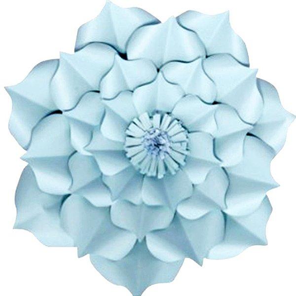 Flor de Papel Decoração Festa - Flor do Campo 39cm M Azul Claro - Decora Doces - Rizzo Festas