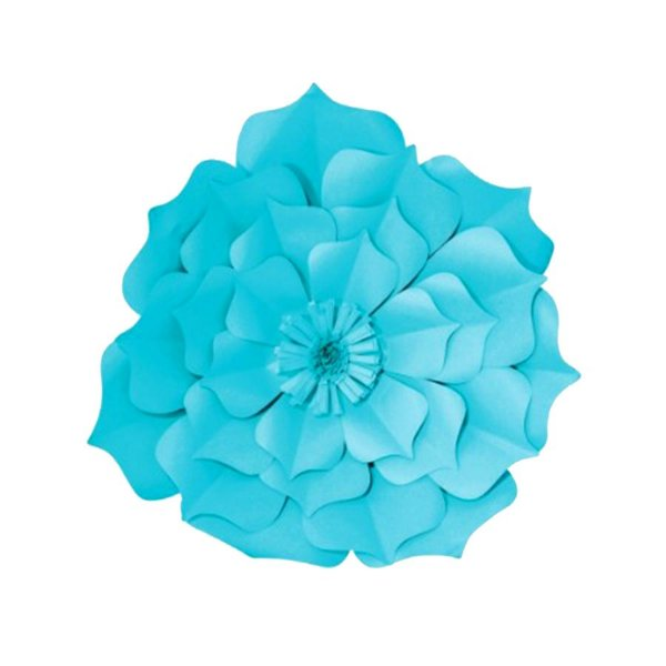 Flor de Papel Decoração Festa - Flor do Campo 27cm PP Azul Turquesa - Decora Doces - Rizzo Festas