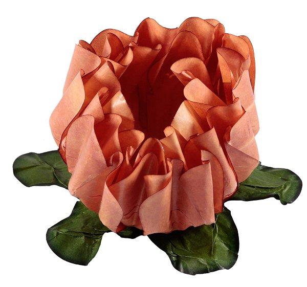 Forminha para Doces Finos - Rosa Maior Caramelo 40 unidades - Decora Doces - Rizzo Festas