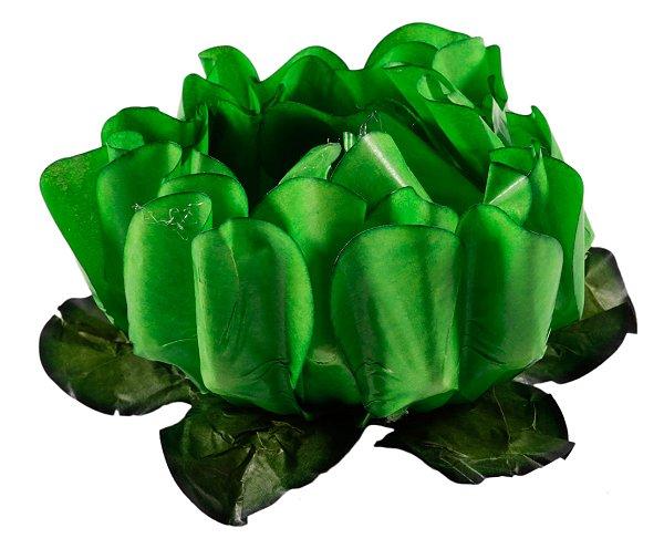 Forminha para Doces Finos - Rosa Maior Verde Limão Escuro 40 unidades - Decora Doces - Rizzo Festas