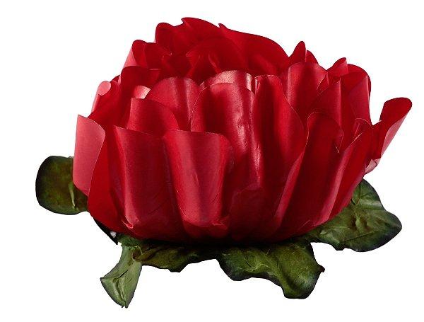 Forminha para Doces Finos - Rosa Maior Vermelha 40 unidades - Decora Doces - Rizzo Festas