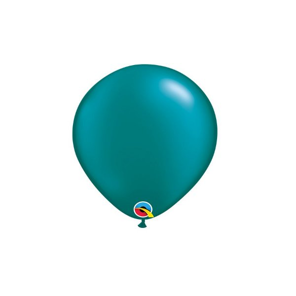 Balão Qualatex Perolado Radiante Opaco Azul Petróleo 5'' 5 unidades Profissional - Rizzo Festas