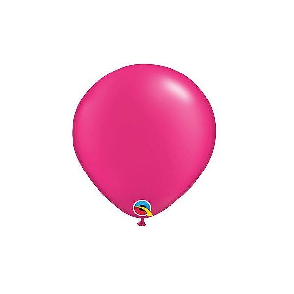 Balão Qualatex Perolado Radiante Opaco Magenta 5'' 5 unidades Profissional - Rizzo Festas