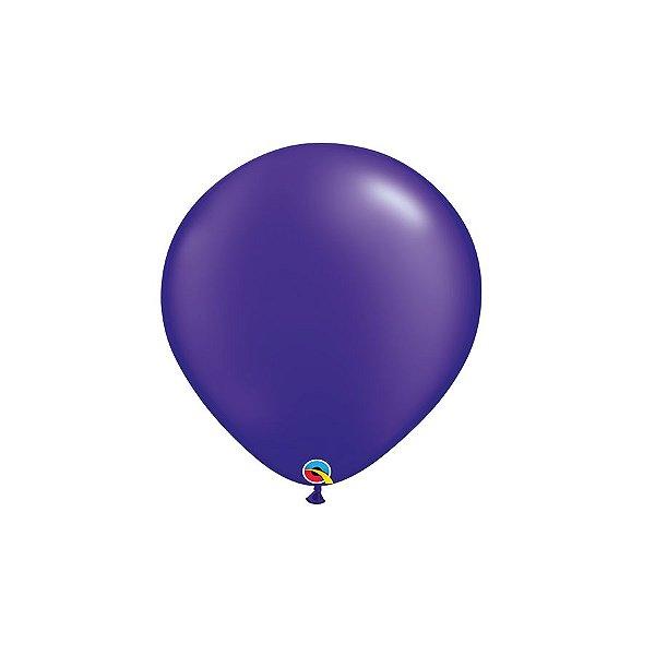 Balão Qualatex Perolado Radiante Opaco Roxo 5'' 5 unidades Profissional - Rizzo Festas