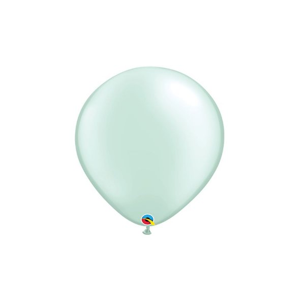 Balão Qualatex Perolado Radiante Opaco Verde Menta 5'' 5 unidades Profissional - Rizzo Festas