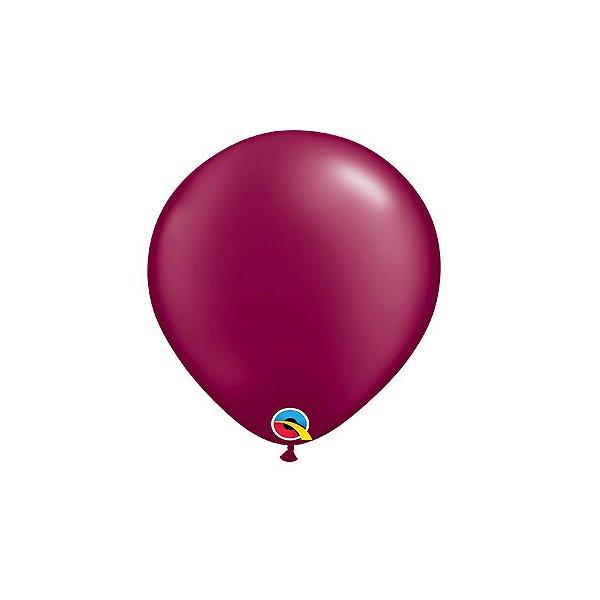 Balão Qualatex Perolado Radiante Opaco Vinho 5'' 5 unidades Profissional - Rizzo Festas