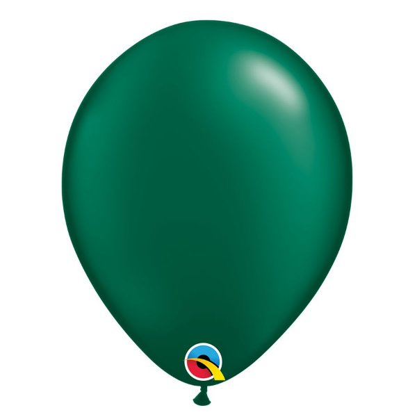 Balão Qualatex Perolado Radiante Opaco Verde Floresta 11'' 5 unidades Profissional - Rizzo Festas