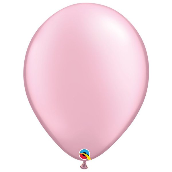 Balão Qualatex Perolado Radiante Opaco Rosa 16'' 5 unidades Profissional - Rizzo Festas