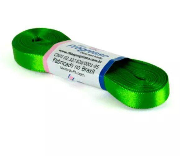 Fita de Cetim Progresso 10mm nº2 - 10m Cor 677 Verde Folha - 01 unidade