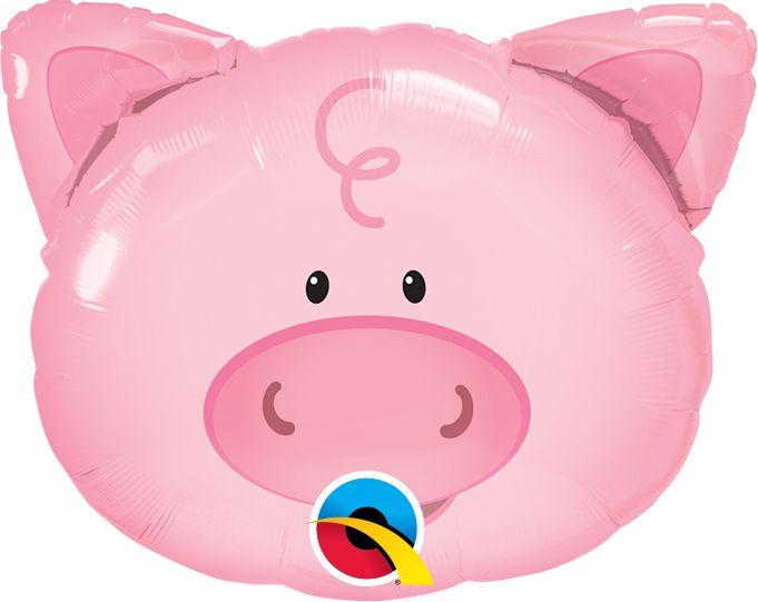 Balão Metalizado Festa Fazendinha Porquinho - 30'' - Qualatex - Rizzo festas