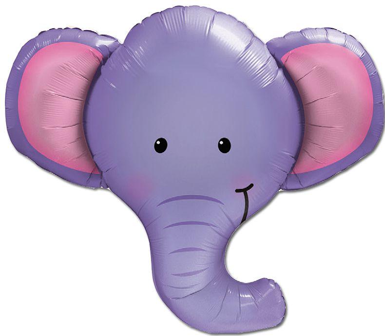 Balão Metalizado Festa Safari Elefante - 39'' - Qualatex - Rizzo festas