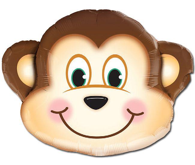 Balão Metalizado Festa Safari Macaco - 35'' - Qualatex - Rizzo festas