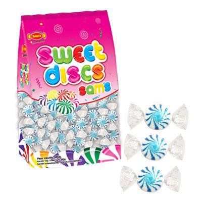 Bala Sweet Discs Sams 150 un 480g - Azul - Simas - Rizzo Embalagens