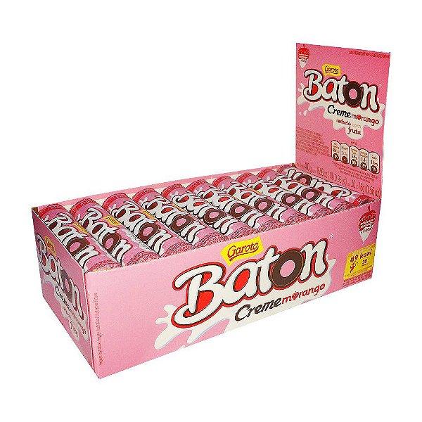 Batom Creme Morango16g Caixa com 30 unidades - Garoto - Rizzo Embalagens