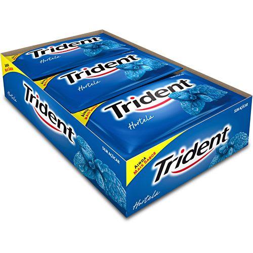 Goma de Mascar Trident Hortela 21 unidades - Rizzo Embalagens