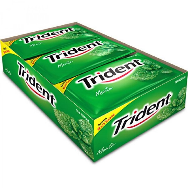 Goma de Mascar Trident Menta 21 unidades - Rizzo Embalagens