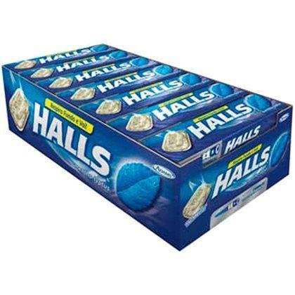 Halls Mentol 34g Caixa com 21 unidades - Rizzo Embalagens