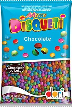 Mini Disqueti Chocolate ao Leite 500g - Dori - Rizzo Embalagens